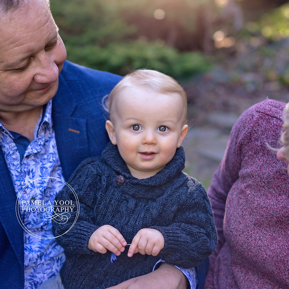 Outdoor Family Portraits - Close up of Baby Boy