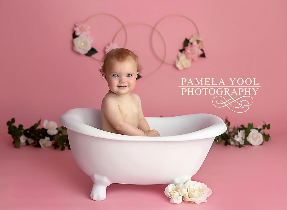 First Birthday Bubble Bath photoshoot Toronto