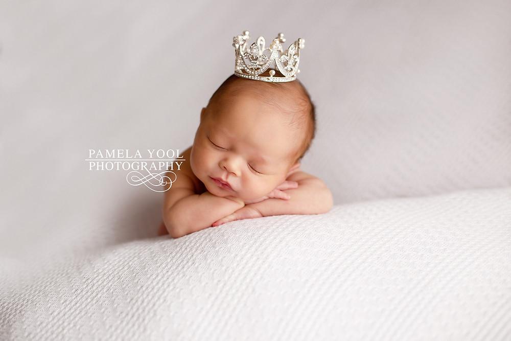Newborn with Crown Toronto Photo Studio