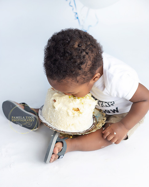 Adorable First Birthday Cake Smash Toronto
