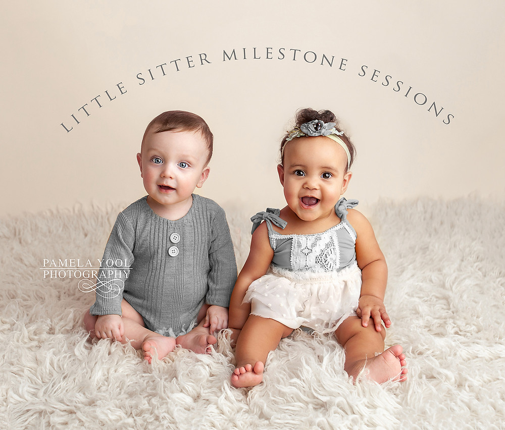Little Sitter Milestone Photo Session - Perfect for Older Baby Photos