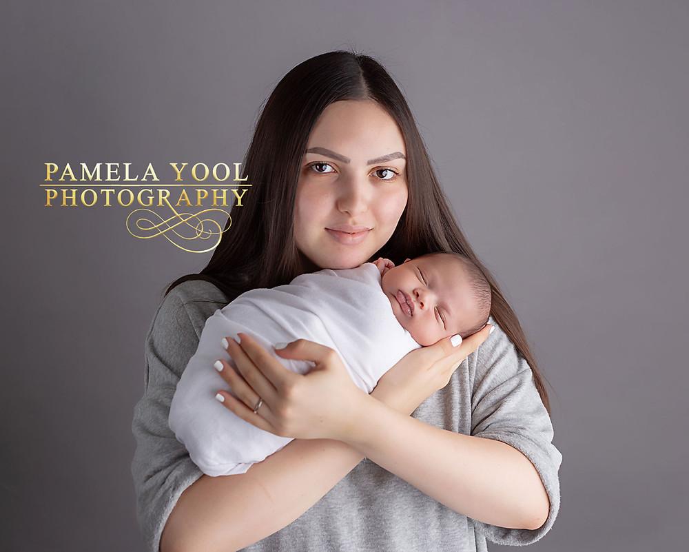 Newborn with Mother Portrait