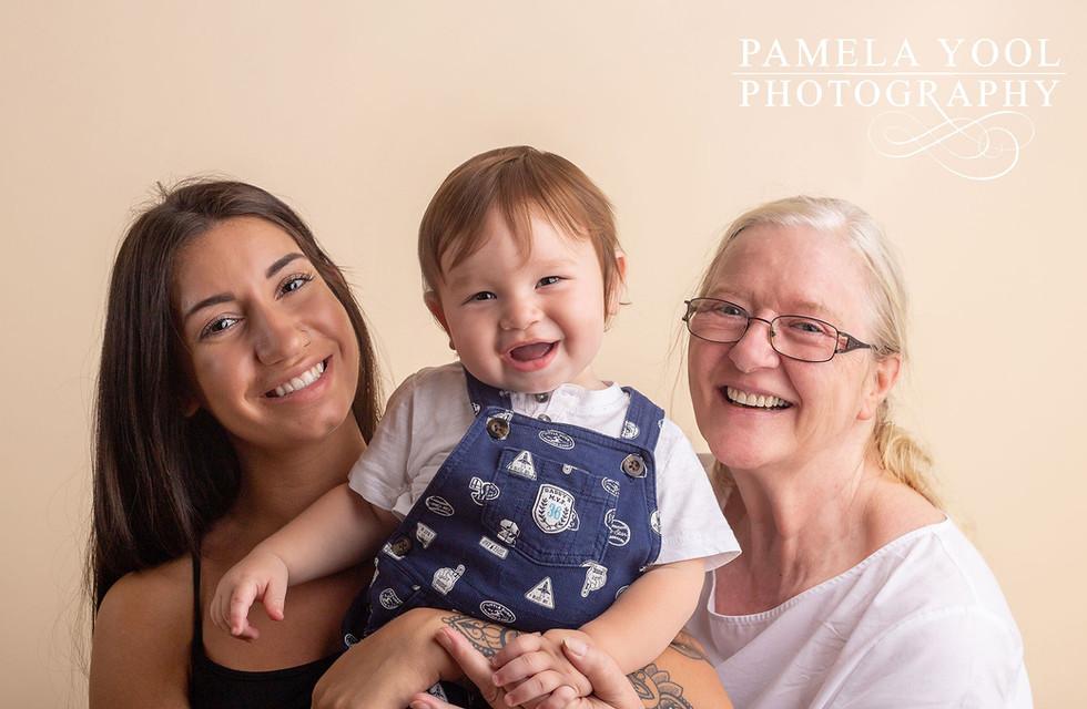 First Birthday Generation Family Photos