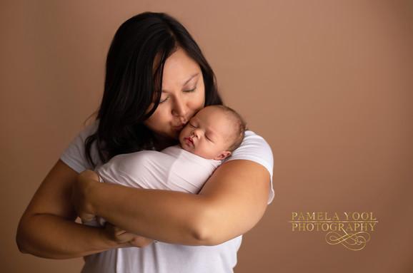 mom and baby Newborn Photography