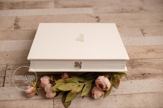 White Leather Photo Album Pamela Yool Ph