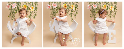 First Birthday Portraits with numbers