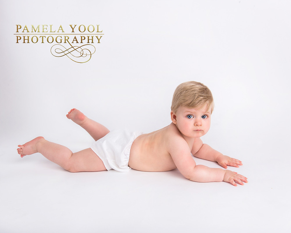 Simple Little Sitter Milestone Photo | Pamela Yool Photography