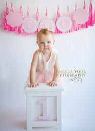 Baby Girl Photography - First birthday portrait