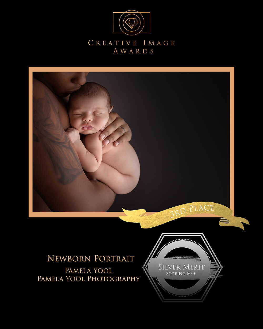 Newborn Portrait Award Winning Image - Pamela Yool Photography