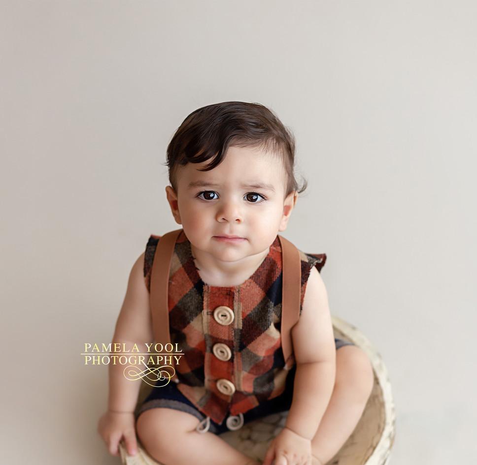 Little Sitter Milestone Photography Boy_