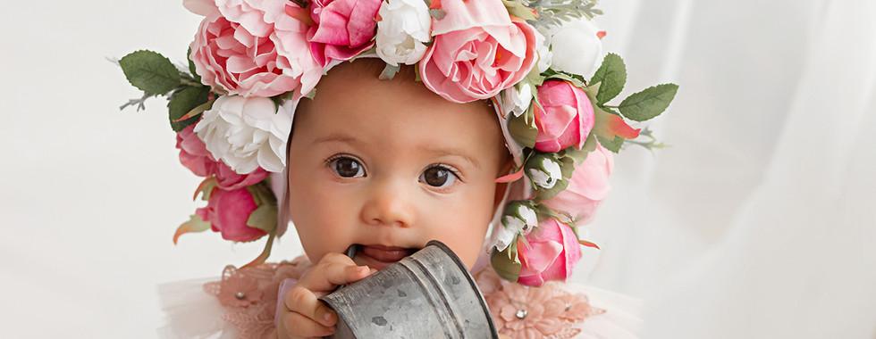 Floral Bonnet  Baby Photos Kath V Inspired