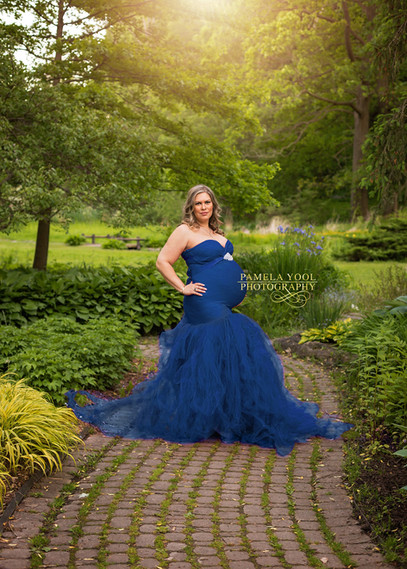 Outdoor Maternity Portraits with Gown Toronto