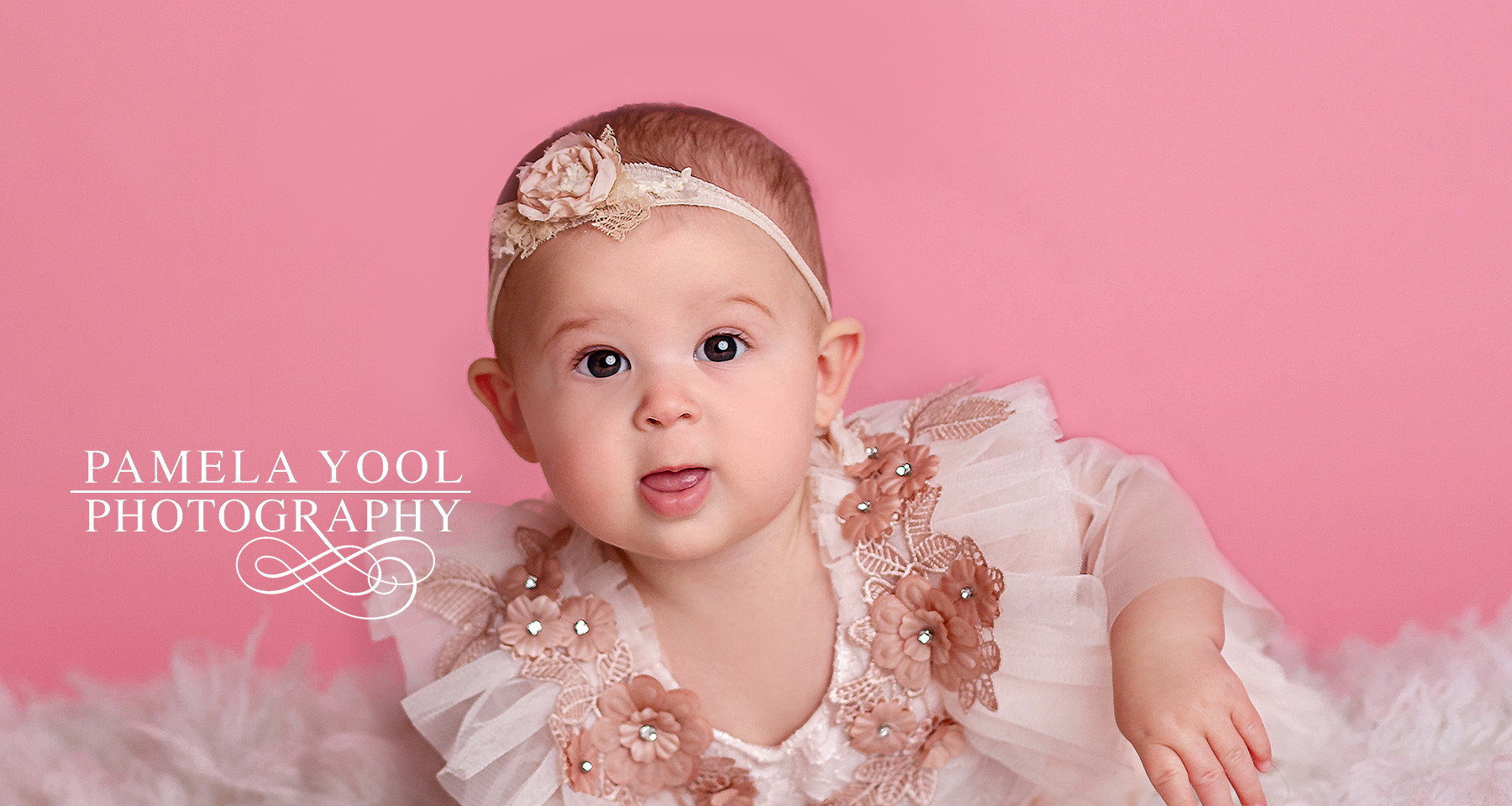 Baby Photography Pink Outfits and backdrop
