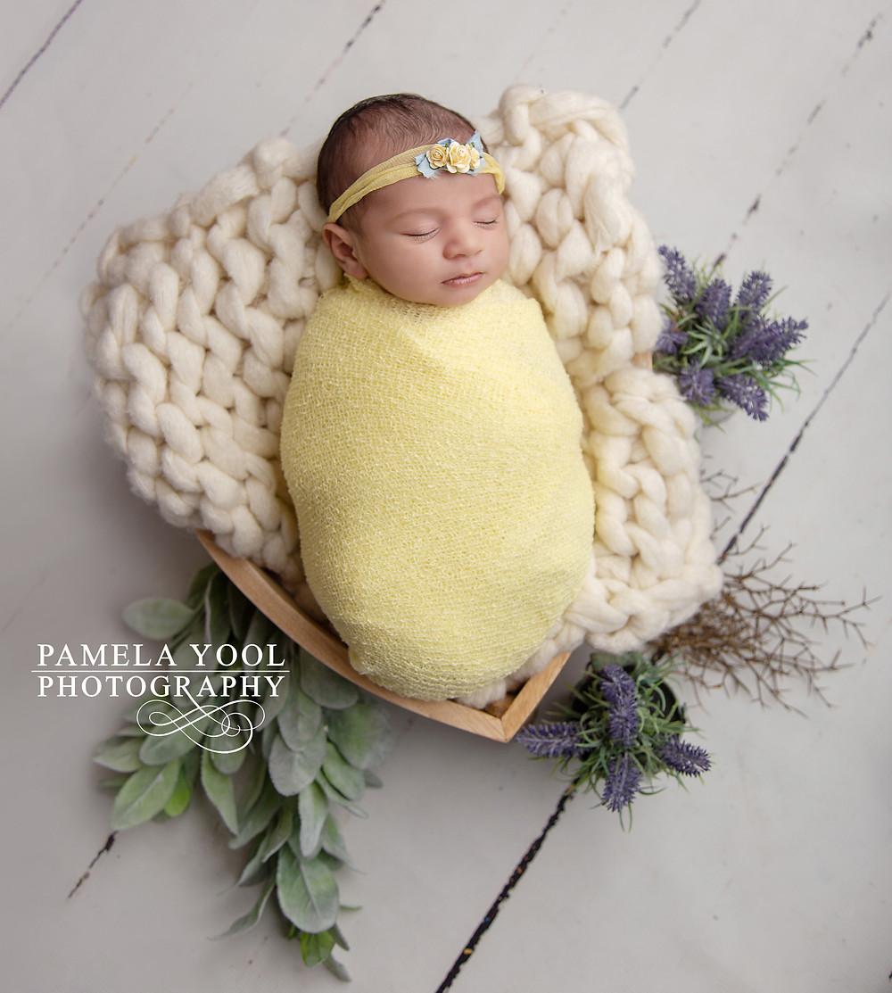 Newborn with Original Photo Blocks Props