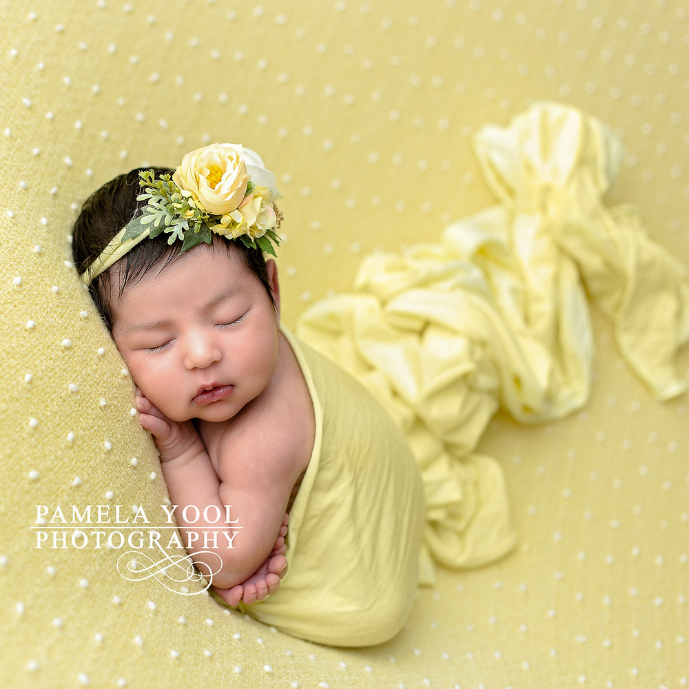 Toronto Newborn Baby Girl in Yellow