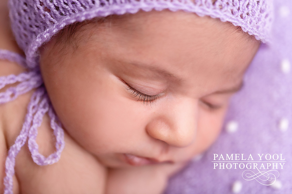 Newborn details eyelashes