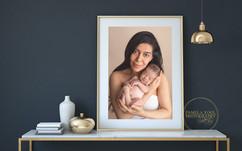 Newborn and mom photography