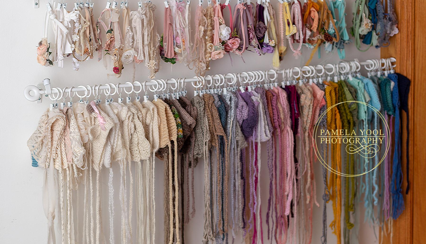 Newborn Studio Bonnets and Tie Back Headbands