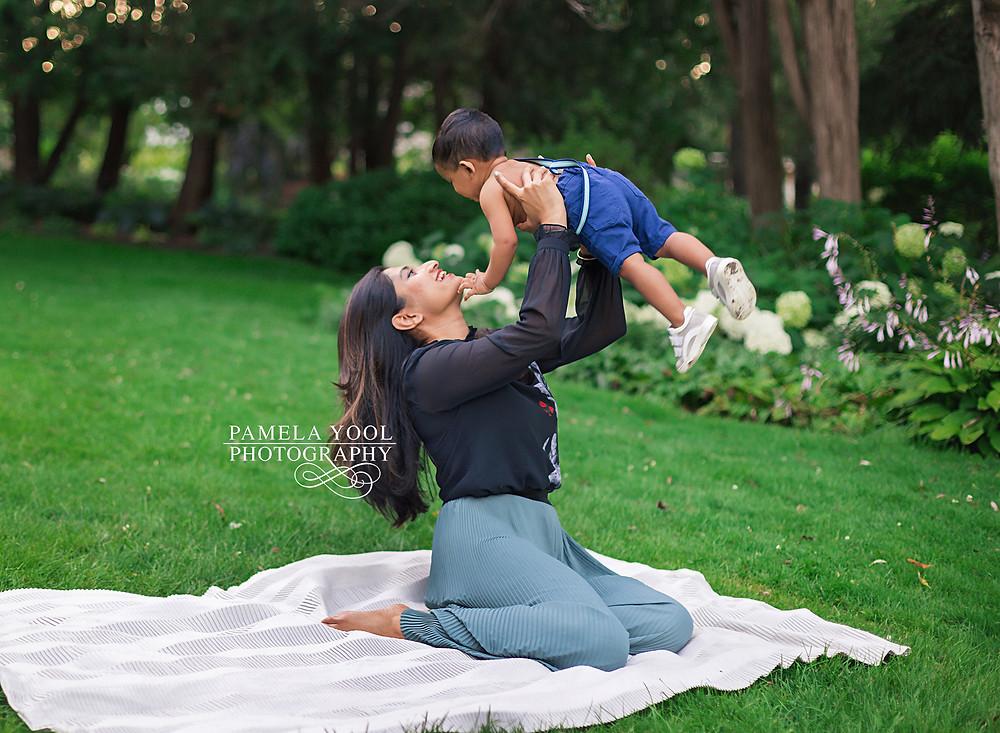 Mother and baby photoshoot Toronto