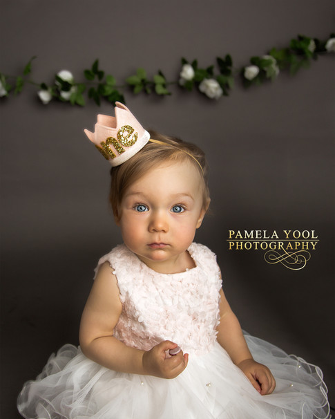 First Birthday Princess Photography with One Crown