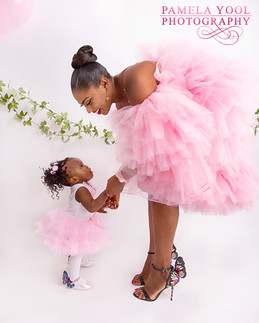 Mommy and Me Portriat in Pink tutu