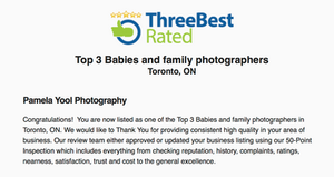 Top Baby and Family Photographer Toronto