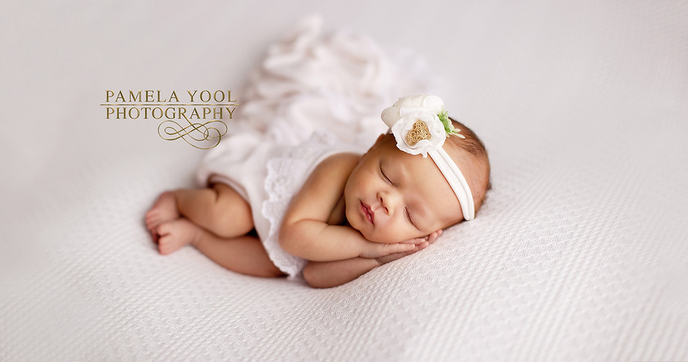 All White Classic Newborn Photography