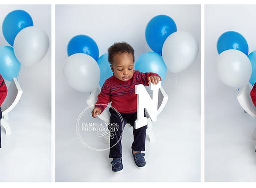 A Cake Smash for John | First Birthday Portraits | Toronto Photo Studio