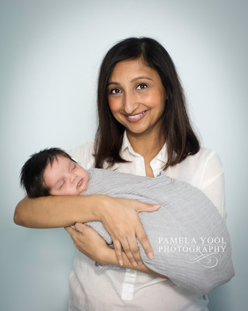 Newborn Photography of Mom and baby