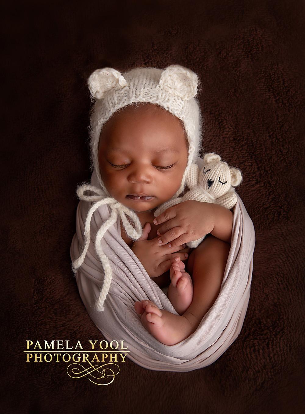 Newborn Photography baby bear