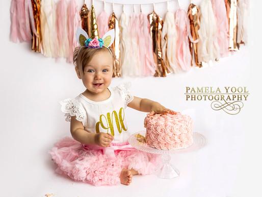 First Birthday Unicorn Theme Cake Smash