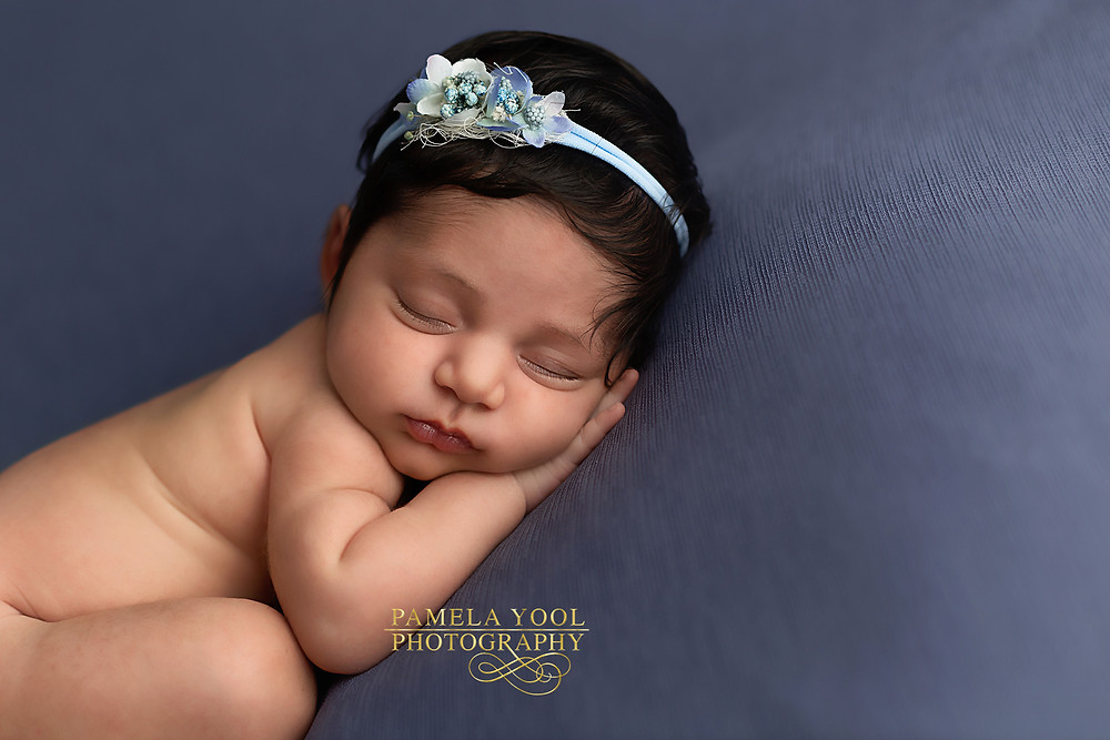 Baby Girl Newborn Photography in Blue