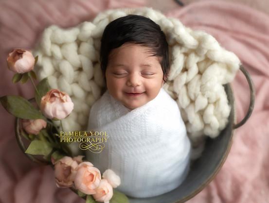 Newborn Photography Toronto Smiling Baby