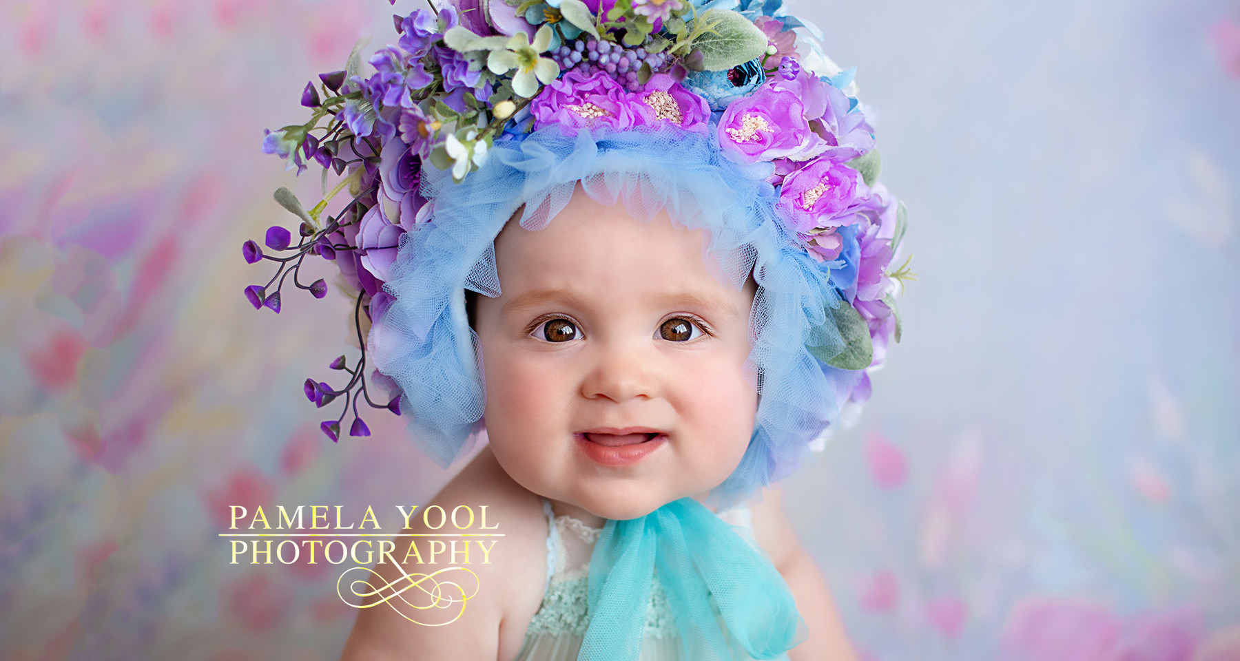 Baby Photos with Flower Bonnet Kath V Inspired