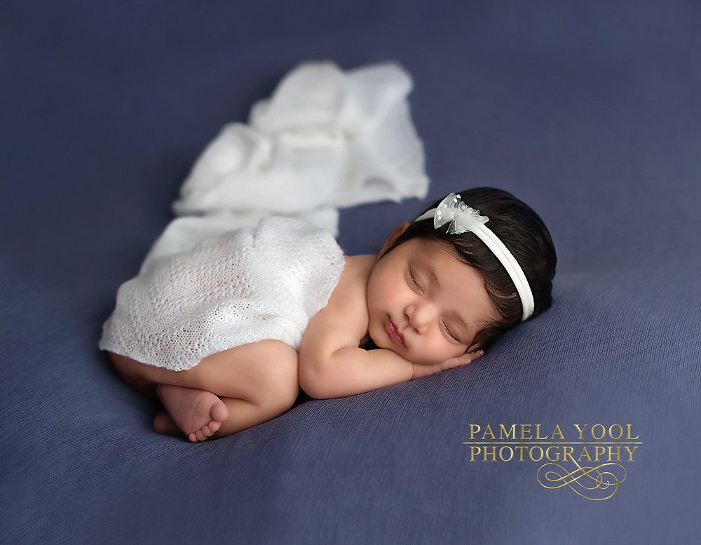 Blue Baby Girl Newborn Photography