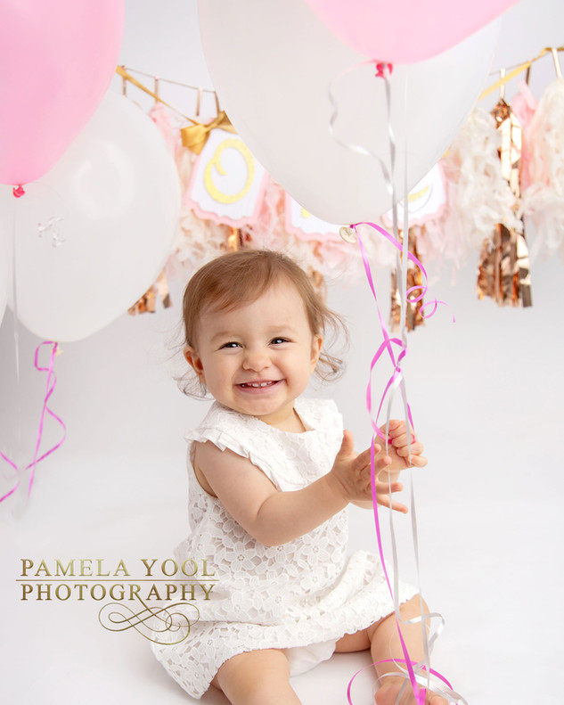 Birthday Photos with Pink Balloons