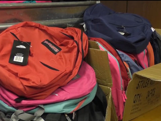 Officer Collects Backpacks for Community In Need