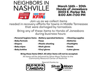 Help Out Neighbors in Nashville March 16th - 20th