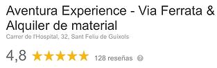 Reseñas google aventura experience