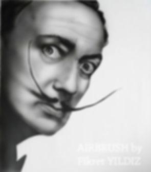 Airbrush portre, Dali Portre, airbrush, airbrush ankara, Airbrush motosiklet, airbrush kask, duvara airbrush