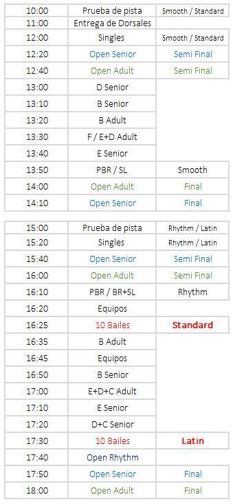 """Cronogramas y Singles Dance """"Copa Julio"""""""
