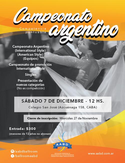 Campeonato Argentino y Promoción 2019