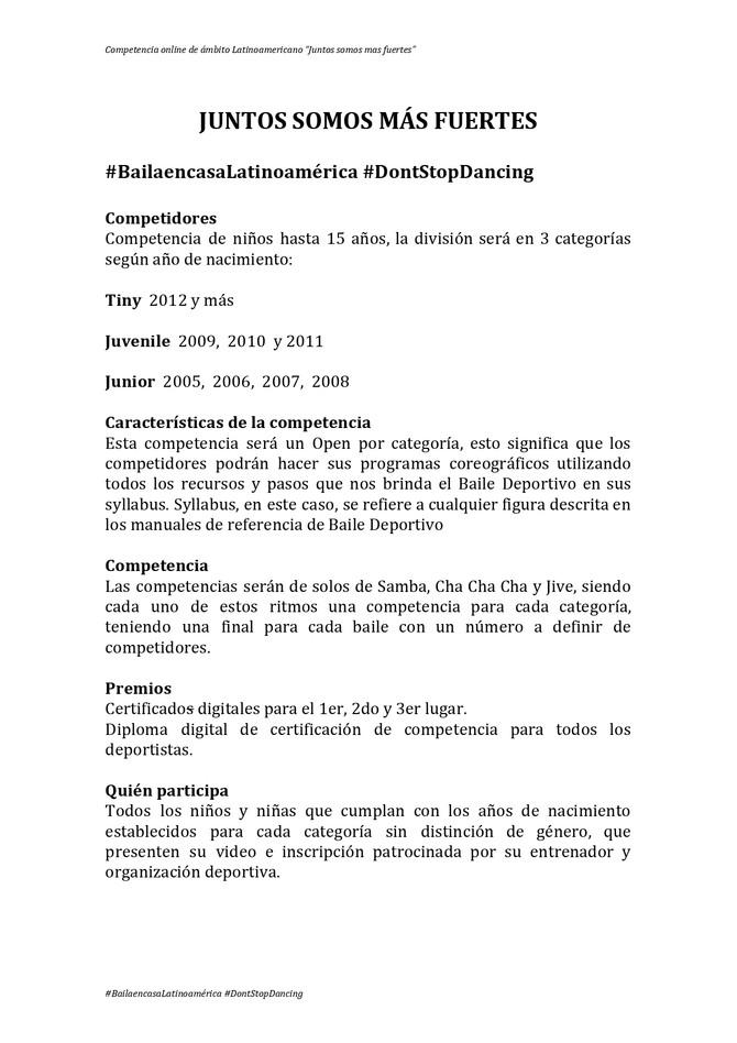 """Competencia Online Latinoamericano - """"Juntos somos mas fuertes"""""""