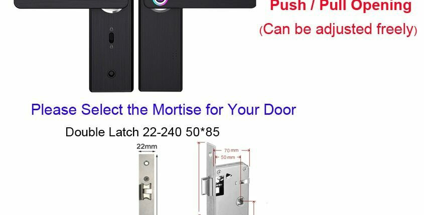 Smart Door Lock Wifi Electronic Security Biometric Fingerprint Intelligent Pass