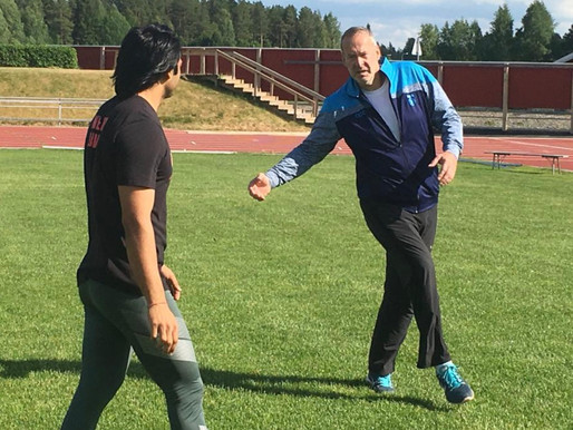 Olympiavoittaja Chopra harjoitteli Kuortaneella