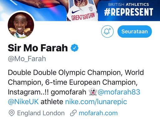 Mo Farah haluaa kolmannen olympiakullan kympiltä
