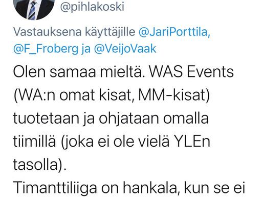 WA:n suomalaisjäseneltä tiukka kannanotto Timanttiliigaan