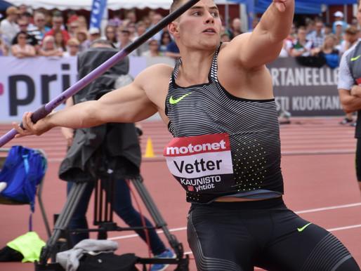 Johannes Vetter heittää jälleen Kuortaneella