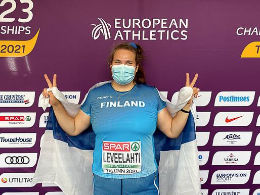 Leveelahti otti EM-hopeaa, Salminen kuudes Monacossa