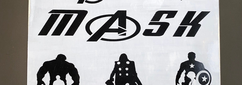 Avengers mask holder
